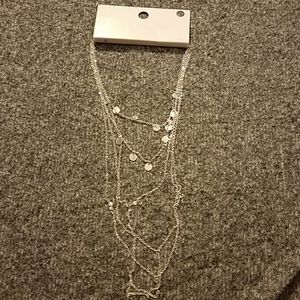 Forever 21 Jewelry - Silver layered drop necklace!